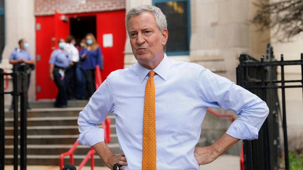 ABC News NYC mayor 'very confident' in new school reopening timeline thumbnail