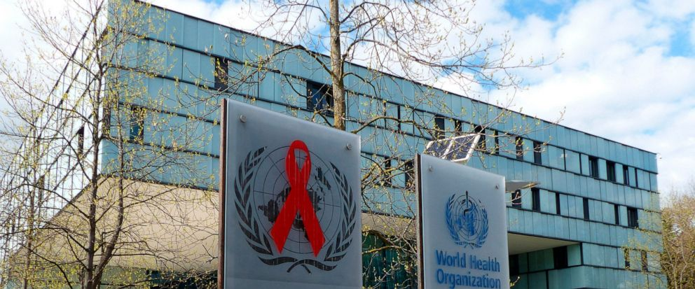 This Monday, April 8, 2019 photo shows the headquarters building of UNAIDS in Geneva. Documents obtained by The Associated Press reveal the U.N.'s AIDS agency is grappling with previously unreported allegations of financial and sexual misconduct invo