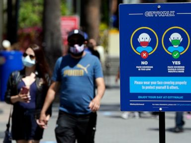 California will stay masked for another month