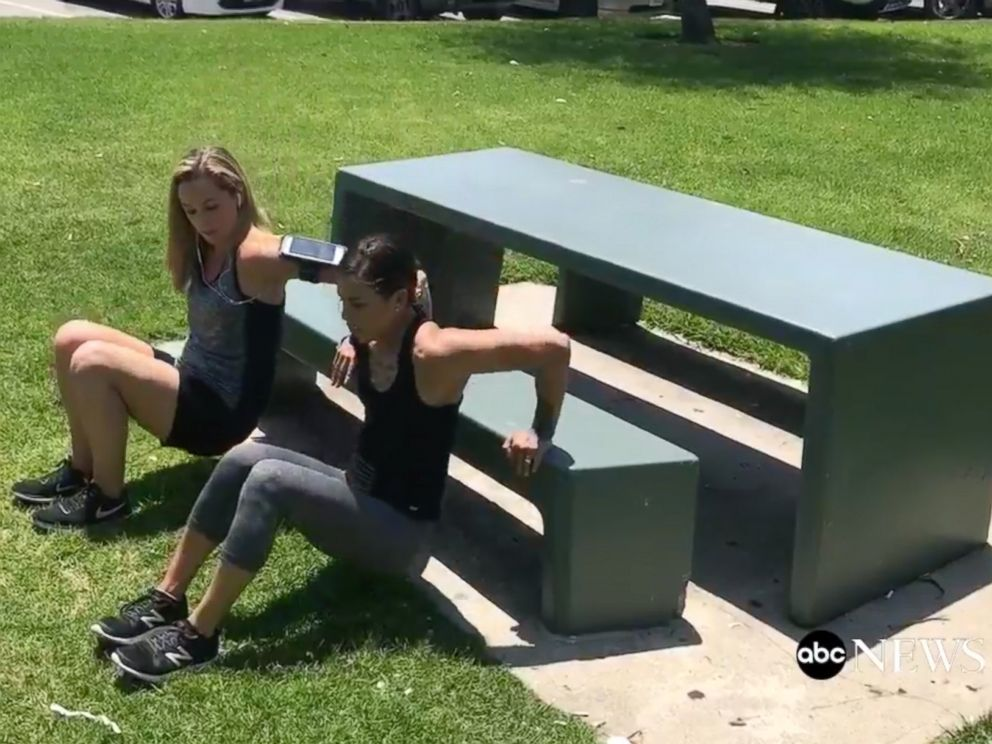 PHOTO: Mixed martial artist Kailin Curran teaches summer workout tips you can do outside of the gym.