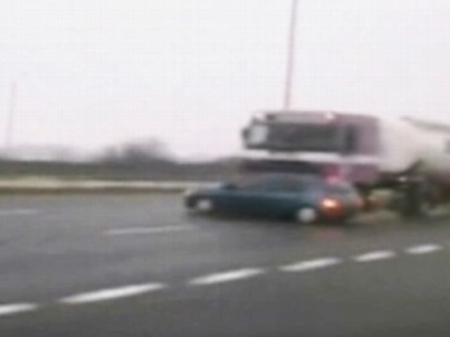 VIDEO: Car driver escapes injury, new investigation opened after police see video.