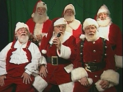 Video: Santas ask to be armed with flu shots for the holiday season.