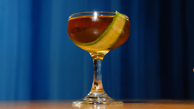 PHOTO: Aldea's Coastal Reign cocktail is seen here.