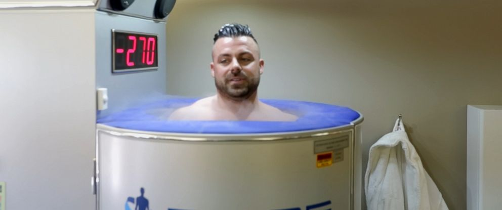 PHOTO: Danny Higgins, a professional acrobat, says he uses cryotherapy to cure injuries and relieve pain.