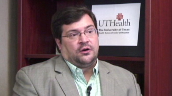 VIDEO: UTHealths Dr. Richard Frye says the device helps the brain reorganize, repair.