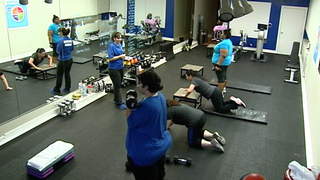 """PHOTO: At Downsize Fitness, membership is reserved for the overweight only -- those who are at least 50 pounds overweight -- because they feel """"fat shamed."""""""