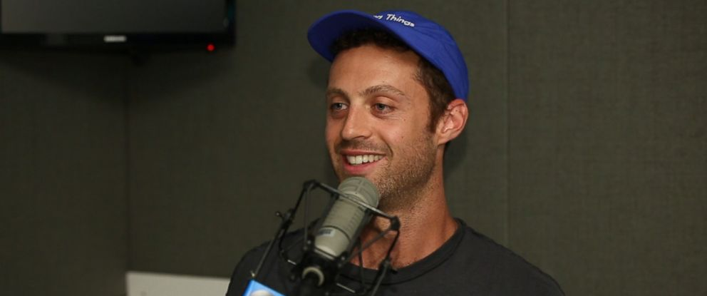 """Jesse Israel is shown here during an interview with ABC News Dan Harris for his podcast, """"10% Happier."""""""