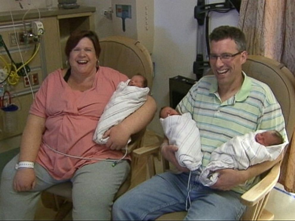 PHOTO: Hannah Hepner gave birth to naturally conceived triplets in Dec. 2013.
