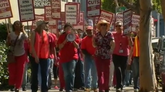 VIDEO: California Nurses Association blames death on Sutter Health Care Systems.