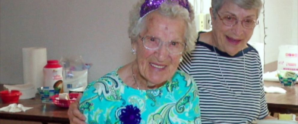 PHOTO: Lucienne Cloutier celebrated turning 105. She said she takes mile-long walks to stay healthy.