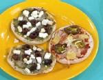 PHOTO Mini pizzas are shown.