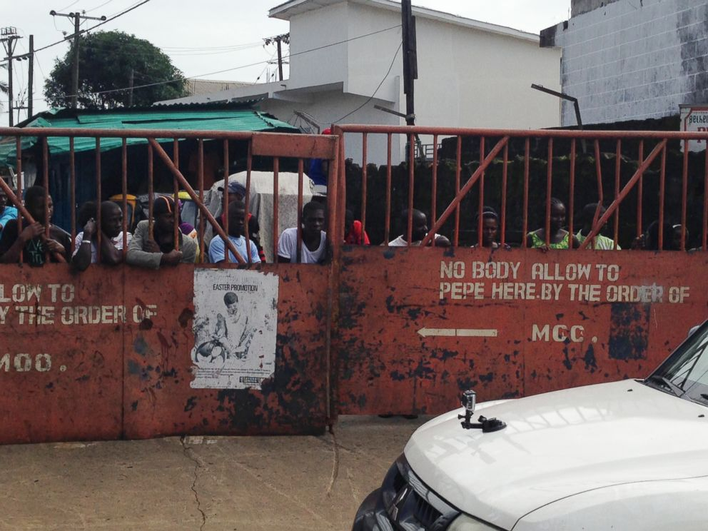 PHOTO: West Point, a slum of Monrovia, Liberia, has been quarantined during the Ebola outbreak.