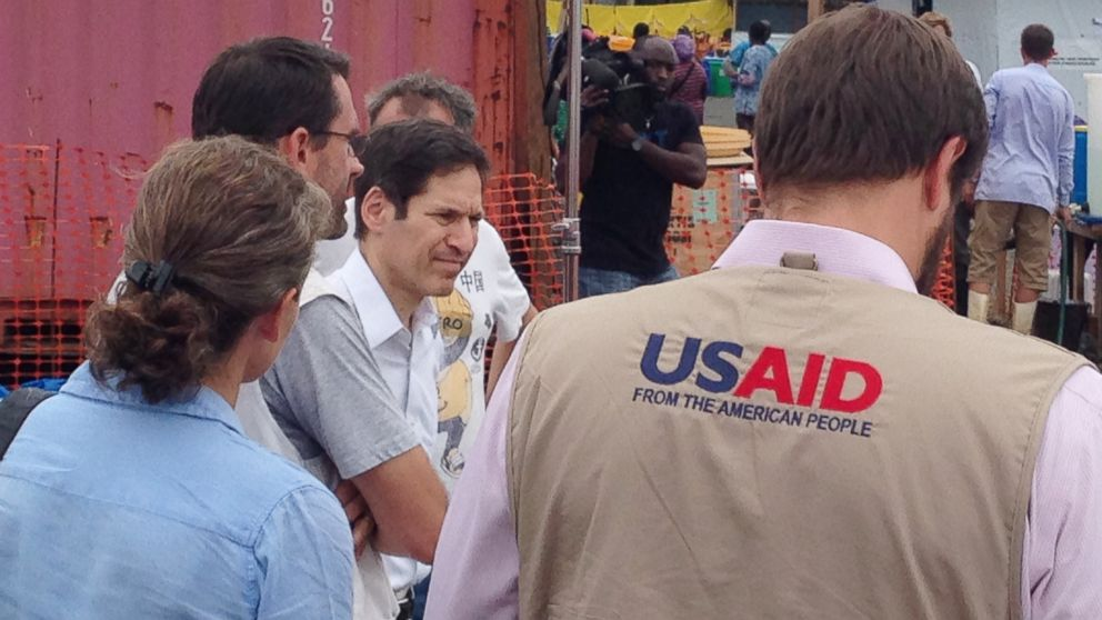 CDC director Tom Frieden visits a hospital run by Doctors Without Borders in Monrovia, Liberia on Aug. 27, 2014.