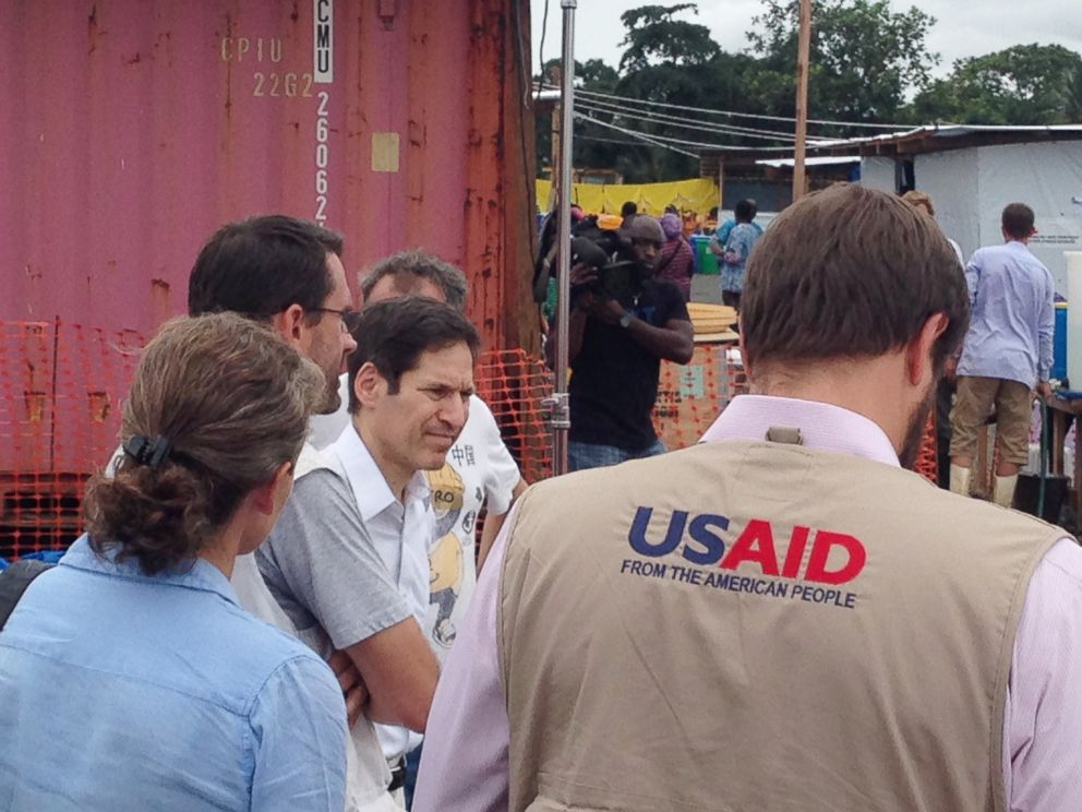 PHOTO: CDC director Tom Frieden visits a hospital run by Doctors Without Borders in Monrovia, Liberia on Aug. 27, 2014.