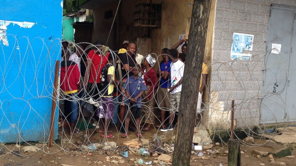 West Point, a slum of Monrovia, Liberia, seen on Aug. 27, 2014, has been quarantined during the Ebola outbreak.