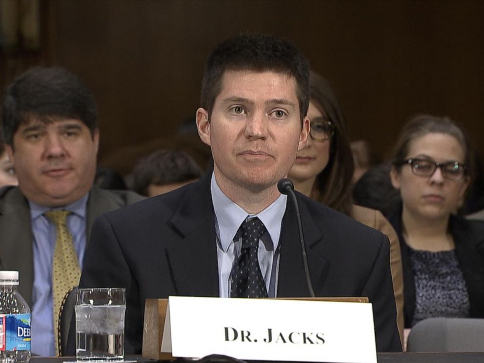 PHOTO: Dr. Timothy Jacks speaks at a senate health committee hearing on Capitol Hill on preventable diseases on Feb. 10, 2015, in Washington.