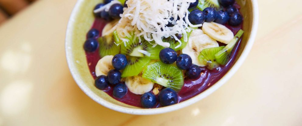 PHOTO: Acai fruit in a bowl with bananas and kiwi, in this undated photo.
