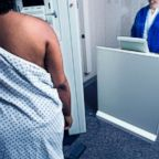 In this undated stock photo an African American woman getting a mammogram.