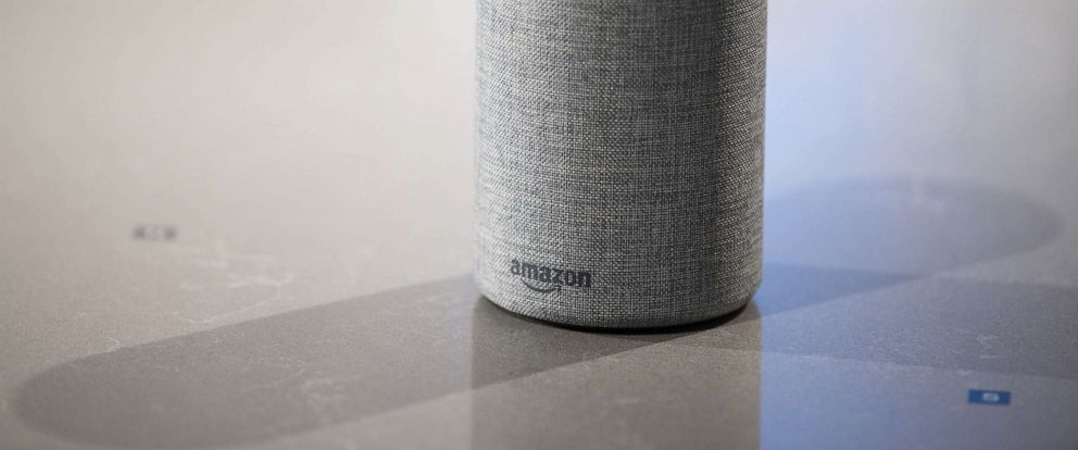 PHOTO: The new Amazon Echo sits on display during the companys product reveal launch event in downtown Seattle, Sept. 27, 2017.