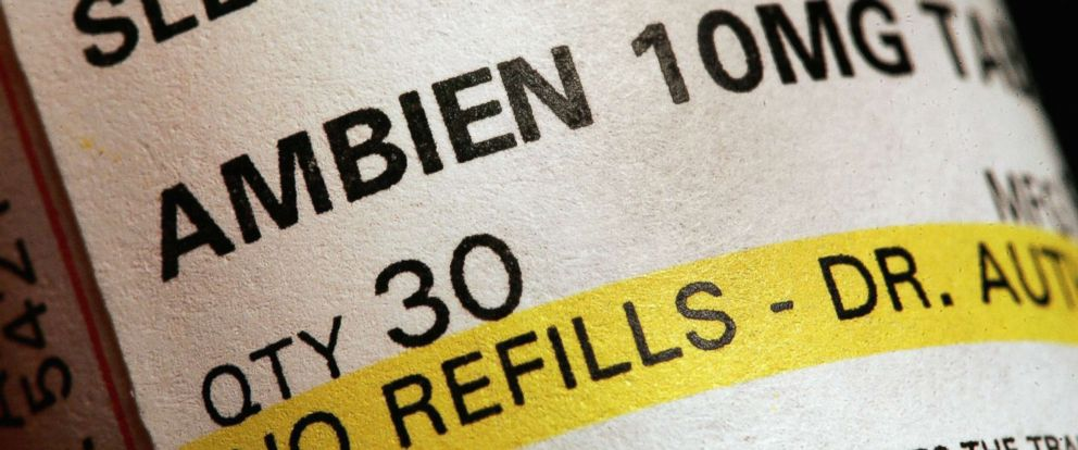 PHOTO: A prescription of bottle of Ambien is shown May 5, 2006 in Des Plaines, Illinois.
