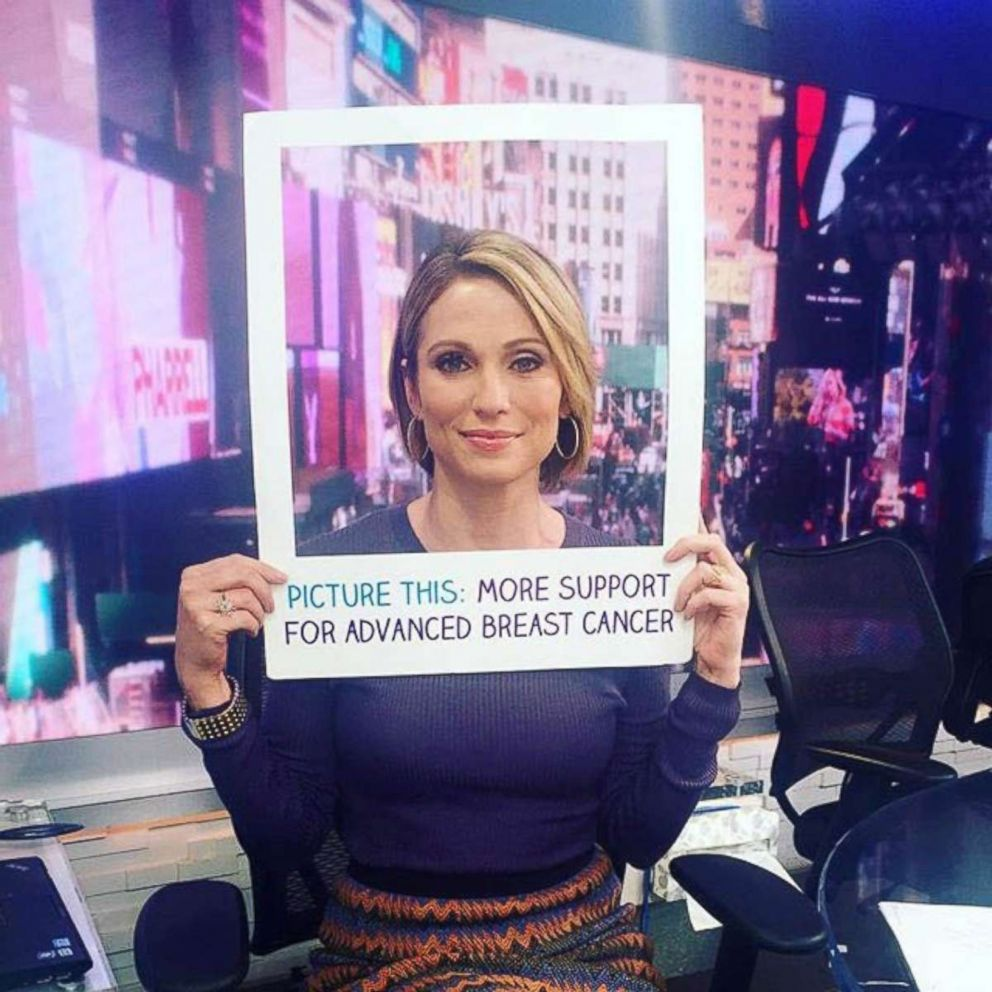 PHOTO: GMA news anchor Amy Robach announced in November 2013 that she had breast cancer.