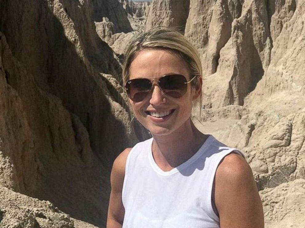PHOTO: Amy Robach poses while on vacation in this August 2017 photo.