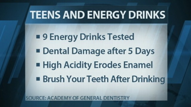 VIDEO: Research shows acid in sports and energy drinks cause irreversible damage to teeth.
