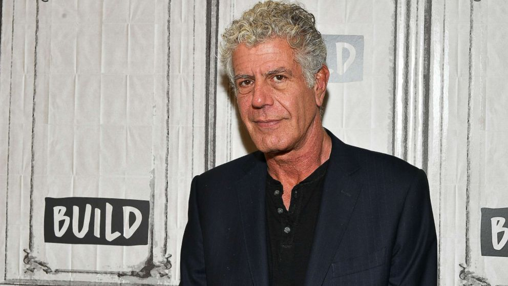 """Author/TV personality Anthony Bourdain visits Build to discuss the Balvenie's """"Raw Craft"""" at Build Studio, Oct. 30, 2017, in New York City."""