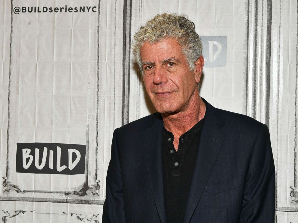 PHOTO: Author/TV personality Anthony Bourdain visits Build to discuss the Balvenies Raw Craft at Build Studio, Oct. 30, 2017, in New York City.