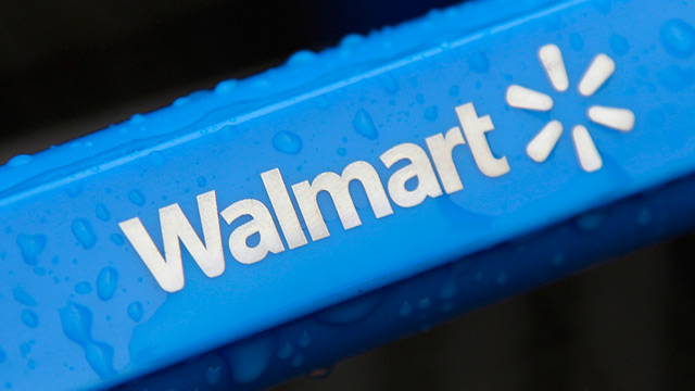 PHOTO: Walmart shopping cart handle