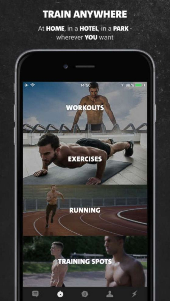 PHOTO: A photo advertisement for the Freeletics Bodyweight app on iTunes.