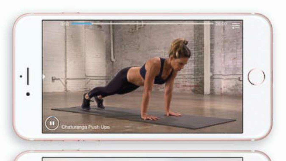 A photo advertisement for the My Fitness by Jillian Michaels app on iTunes.