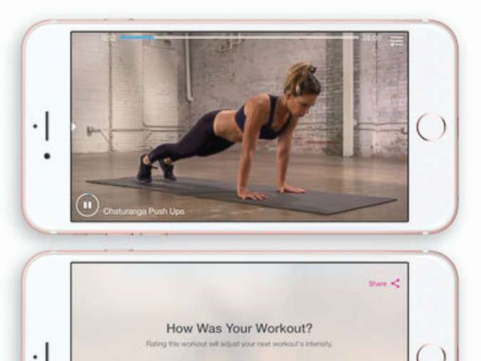 PHOTO: A photo advertisement for the My Fitness by Jillian Michaels app on iTunes.
