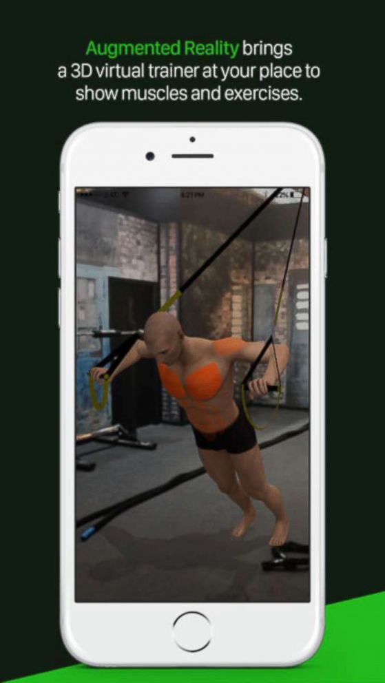 PHOTO: A photo advertisement for the Gymaholic app on iTunes.
