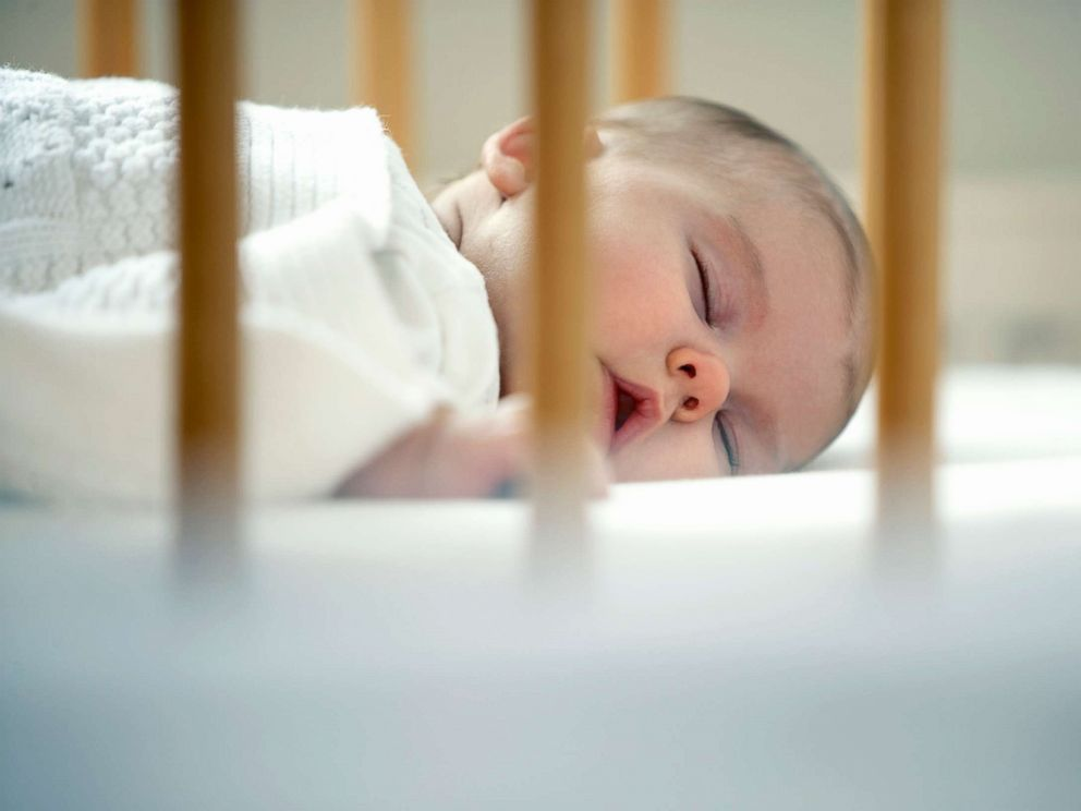 PHOTO: A baby sleeps in a crib in an undated stock photo.