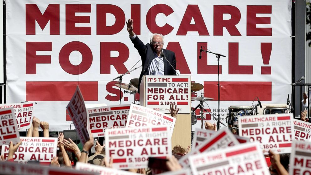 Sen. Bernie Sanders (I-VT) speaks during a health care rally at the 2017 Convention of the California Nurses Association/National Nurses Organizing Committee, Sept. 22, 2017, in San Francisco. Sanders addressed the California Nurses Association about his Medicare for All Act of 2017 bill.