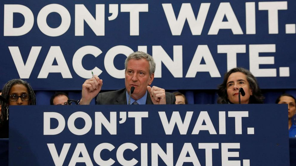 New York City's mandatory measles vaccine orders trigger lawsuit from parents