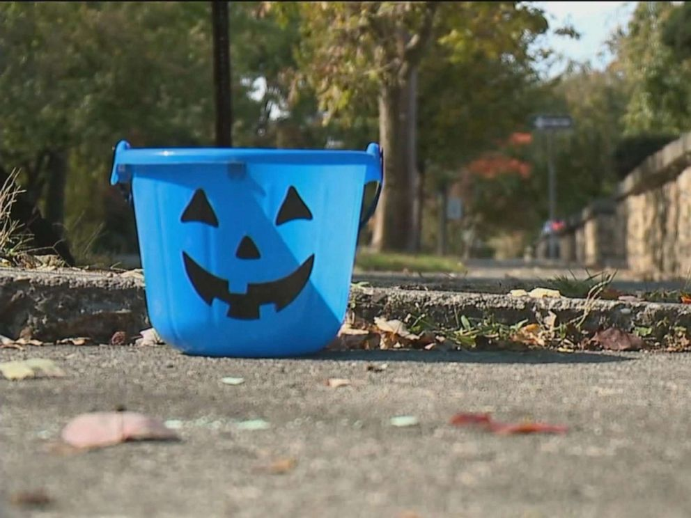 Mom raises awareness about blue Halloween buckets for children with autism