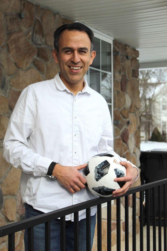 PHOTO: Esteban Serrano, a software engineer, grew up playing soccer in Quito, Ecuador.