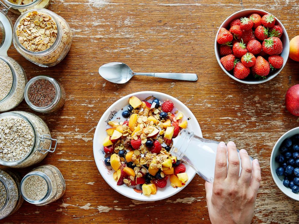 PHOTO: A healthy breakfast of muesli and milk is pictured in this undated stock photo.