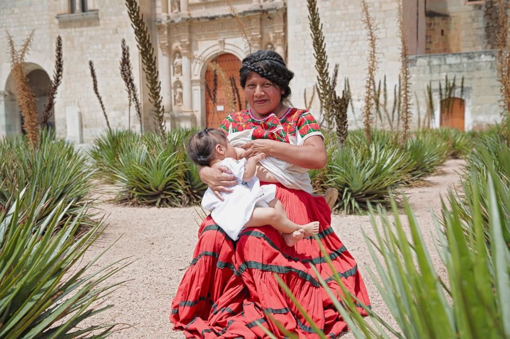 PHOTO: Hilda poses while breastfeeding in Mexico.
