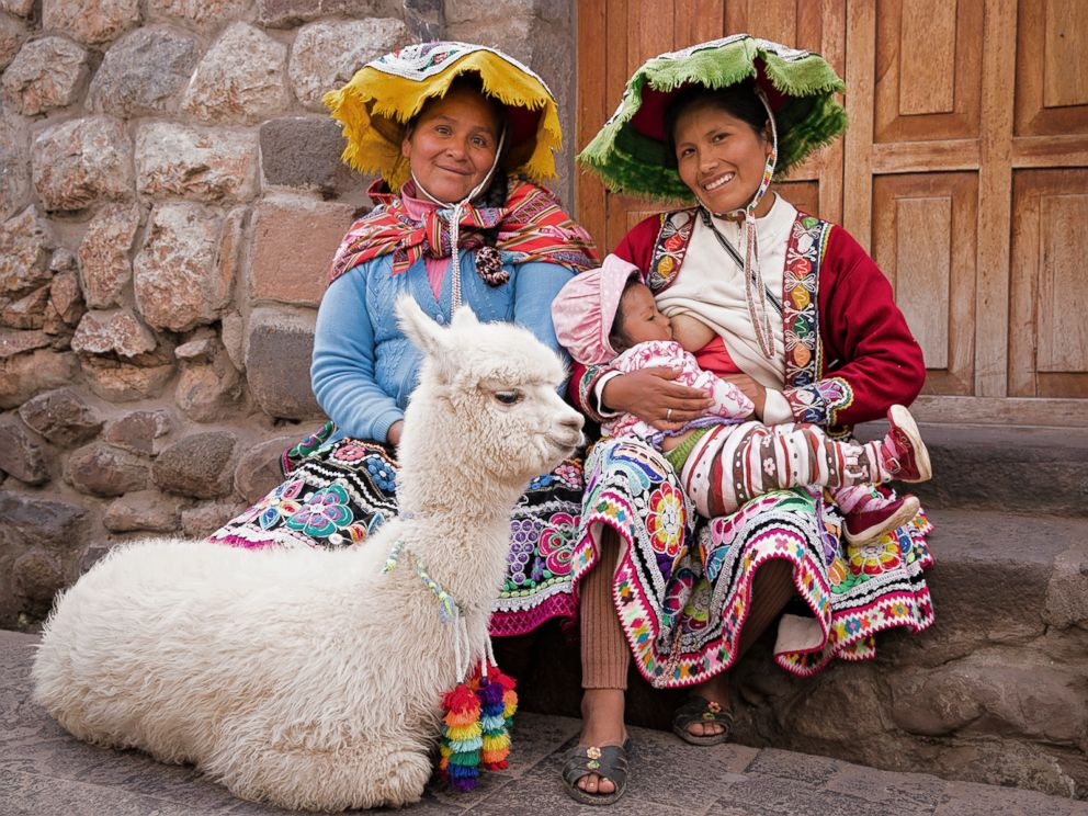 PHOTO: Maryluz poses while breastfeeding in Peru.