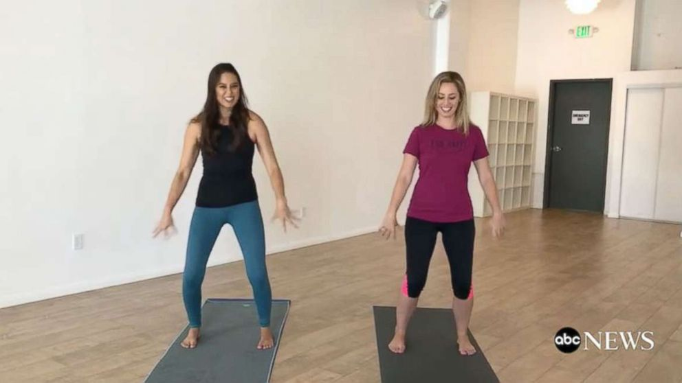 ABC News learns breathing and exercise techniques to combat cravings and curb stress eating.