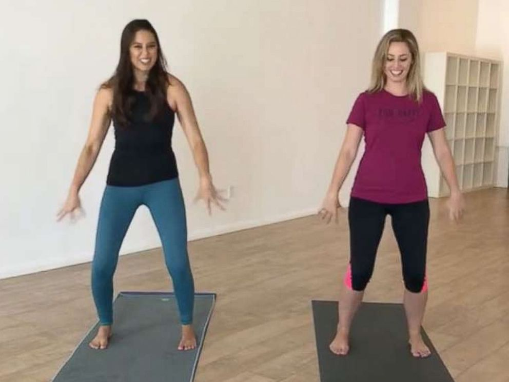 PHOTO: ABC News learns breathing and exercise techniques to combat cravings and curb stress eating.