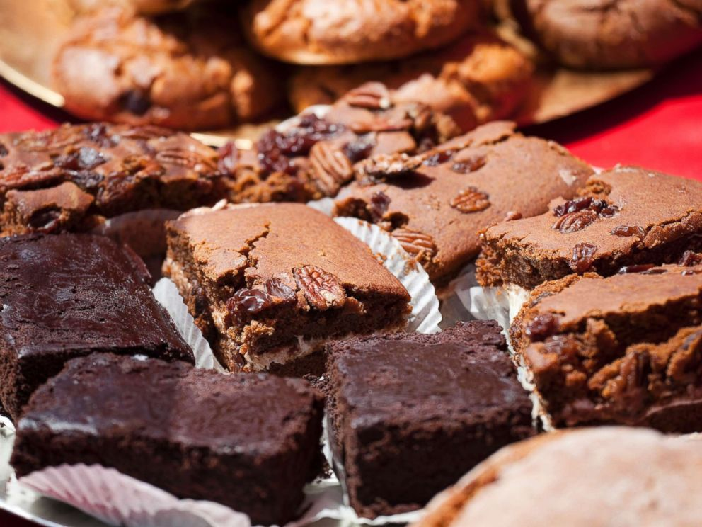 PHOTO: Brownies and cookies are displayed at a farmers market in an undated stock photo.