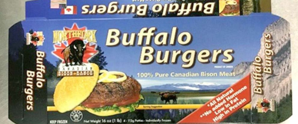 PHOTO: Northfork Bison Distributions Inc. of St. Leonard, Quebec is recalling its Bison Burgers & Bison Ground because they have the potential to be contaminated with E. coli: O121 and O103.