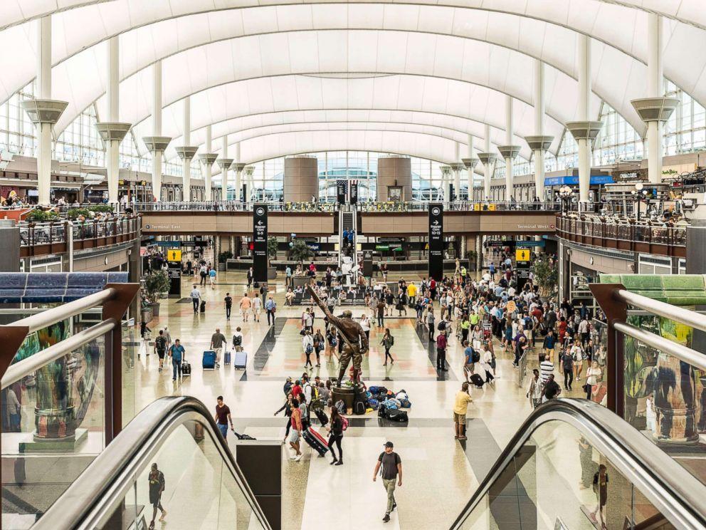 PHOTO: Denver airport terminal interior, July 11, 2016.