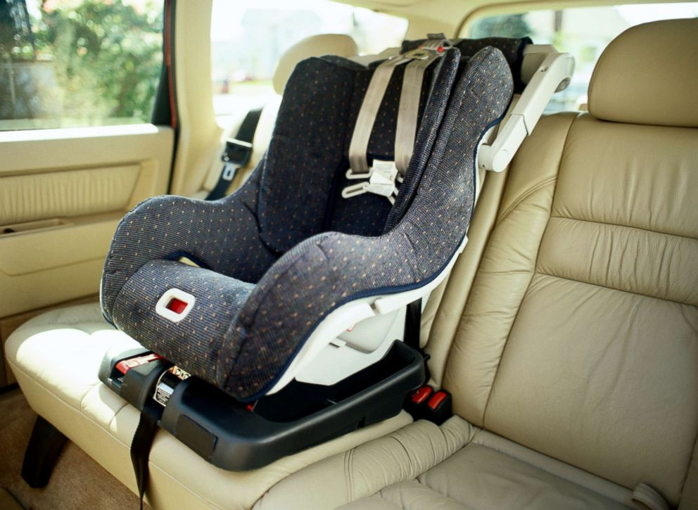 An empty car seat is seen in this stock photo.