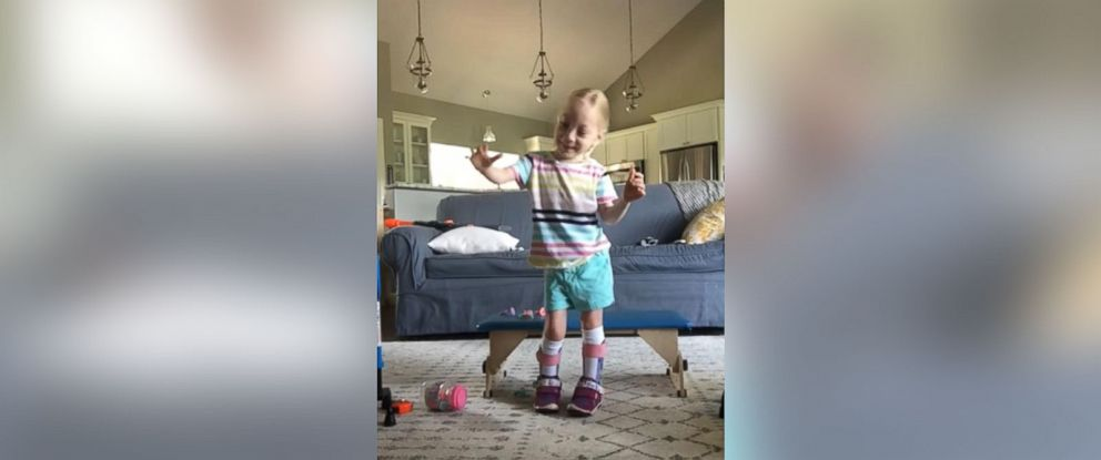PHOTO: On July 1, her parents posted a video on social media of Maya taking her first steps without any assistance.
