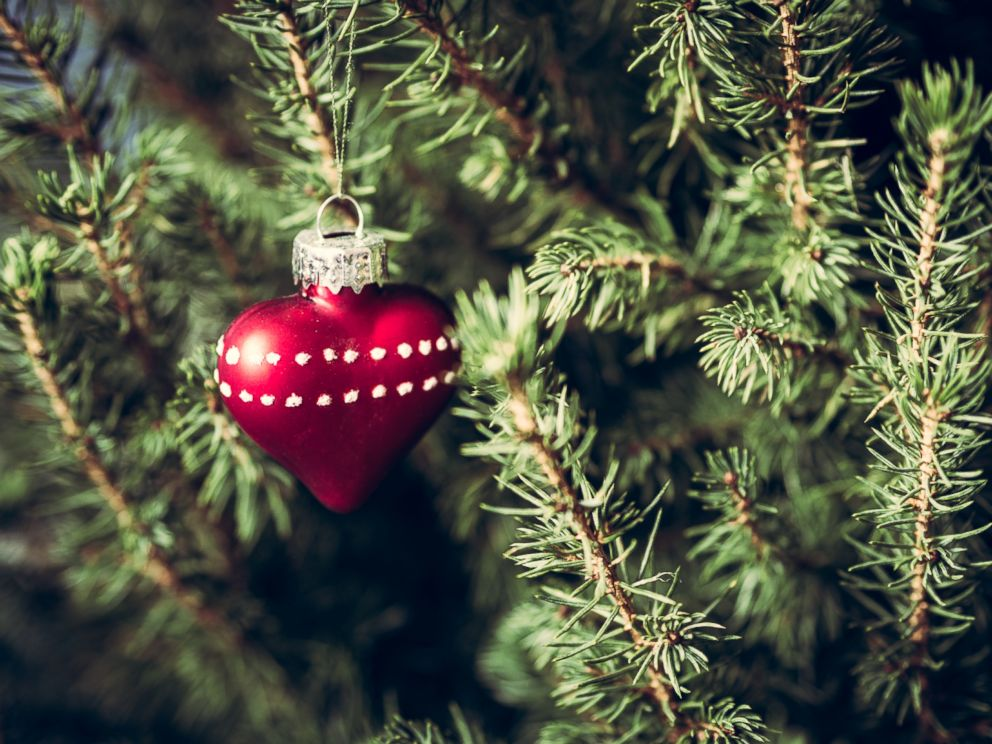 PHOTO: An undated photo shows a heart-shaped ornament on a Christmas tree.